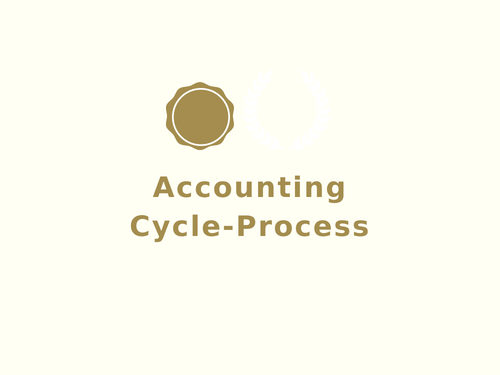 Accounting Cycle Process