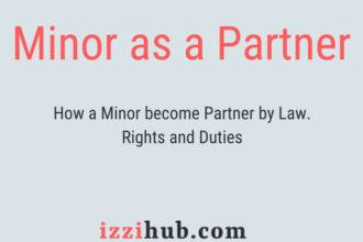 Minor as a partner