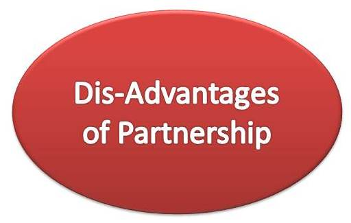 dis advantages of partnership