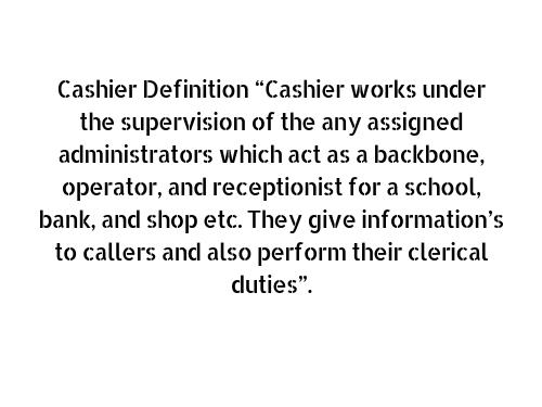 cashier definition