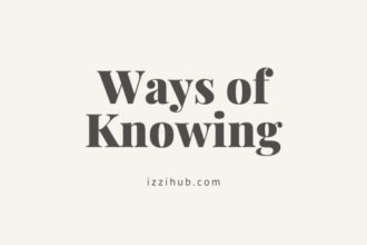 Ways of knowing TOK