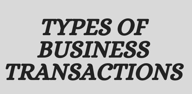 Types of Business Transactions